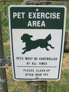 Dog park pet area photo